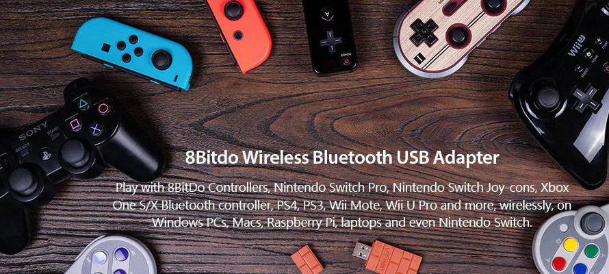 8Bitdo Bluetooth USB Adapter - look like a bunch of bricks from Super Mario
