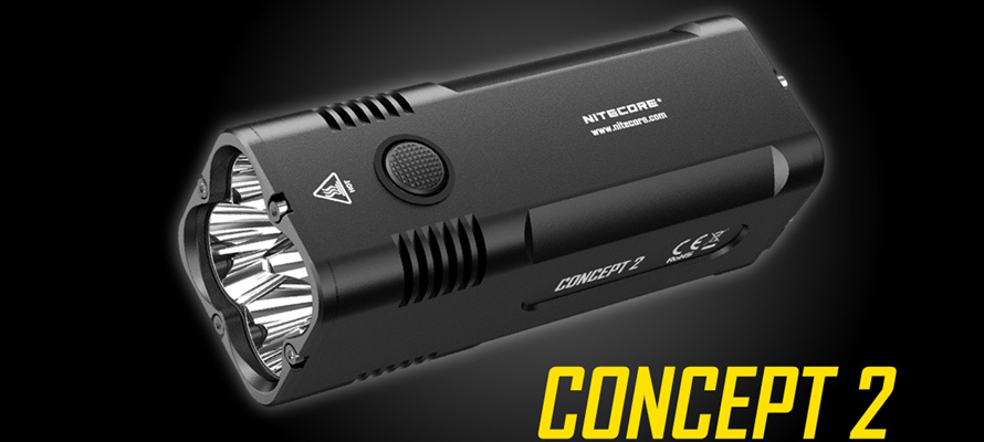 Nitecore Concept 2 Flashlight with 6500 Lumens Is Powerful for Everyday Carry