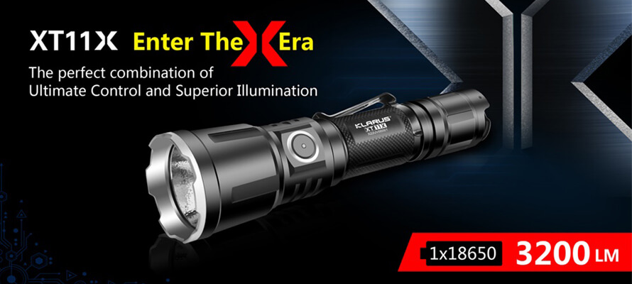 Klarus XT11X LED Flashlight Produces Super Bright Light for Versatile Use