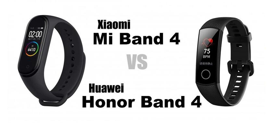 Huawei Honor Band 4 VS Xiaomi Band 4 - who is your first choice?