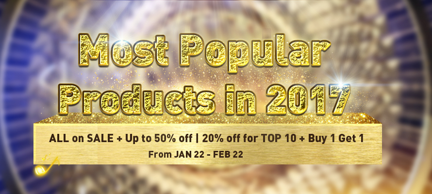 Catch GearVita's Promotion of Most Popular Products in 2017 - Up to 50% off