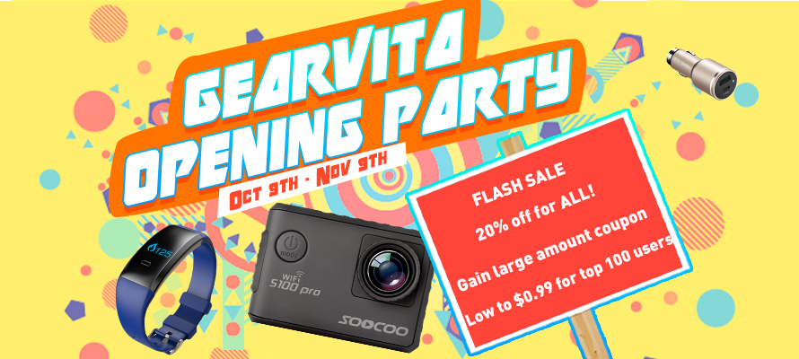 GearVita Opening Party Sale is Beginning Today!