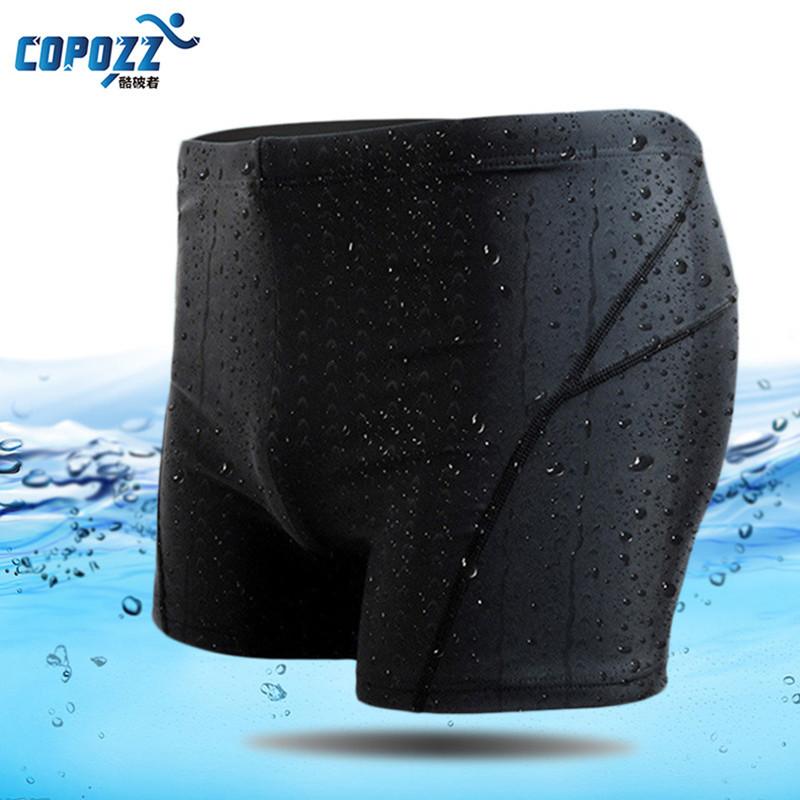 COPOZZ New Men Swimming Shorts Waterproof Flexible Swimwear фото