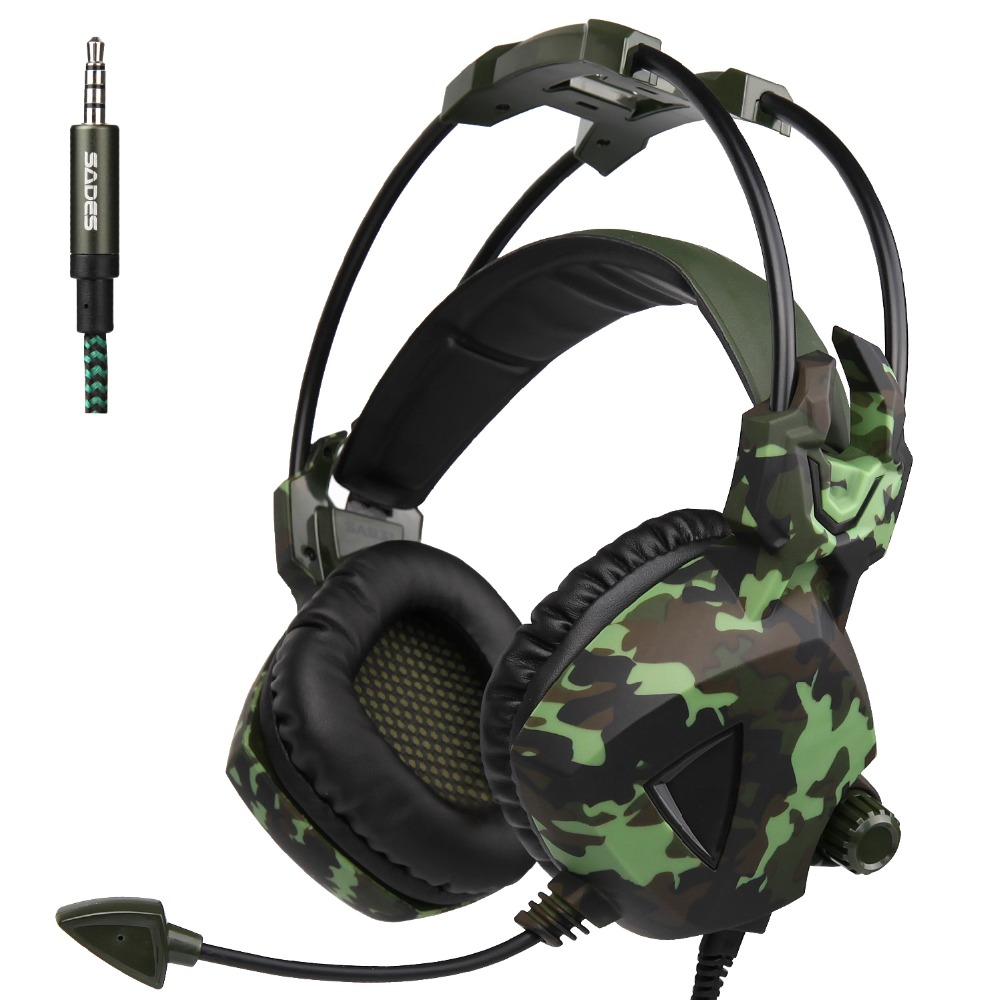 Sades SA-931 Gaming Stereo Headset for PC Microphone Mobile Phone Gamer фото