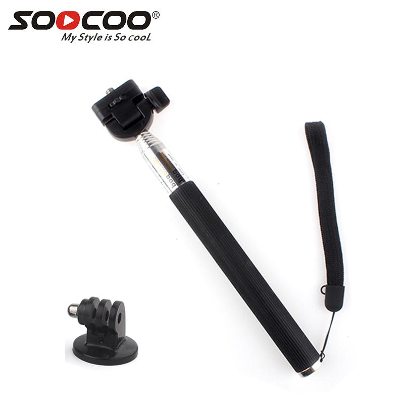 SOOCOO Retractable Handheld Monopod with Mount Adapter for Hero 4 3 + 2 1 SJ4000 SJ5000 фото