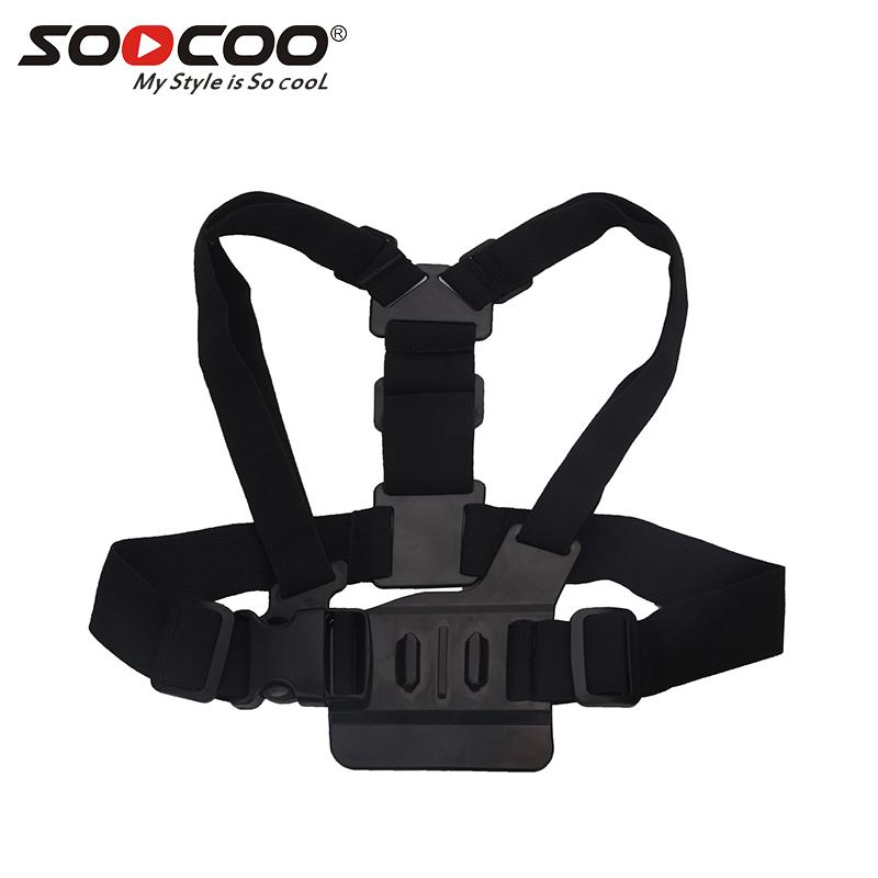 SOOCOO Adjustable Chest Belt Top Mount for GoPro HD Hero 4 3 1 2 SJ4000 SJ5000 Action Camera Black фото