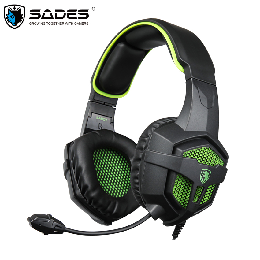 SADES SA807 Gaming Stereo Headset with Microphone for Gamer PC фото