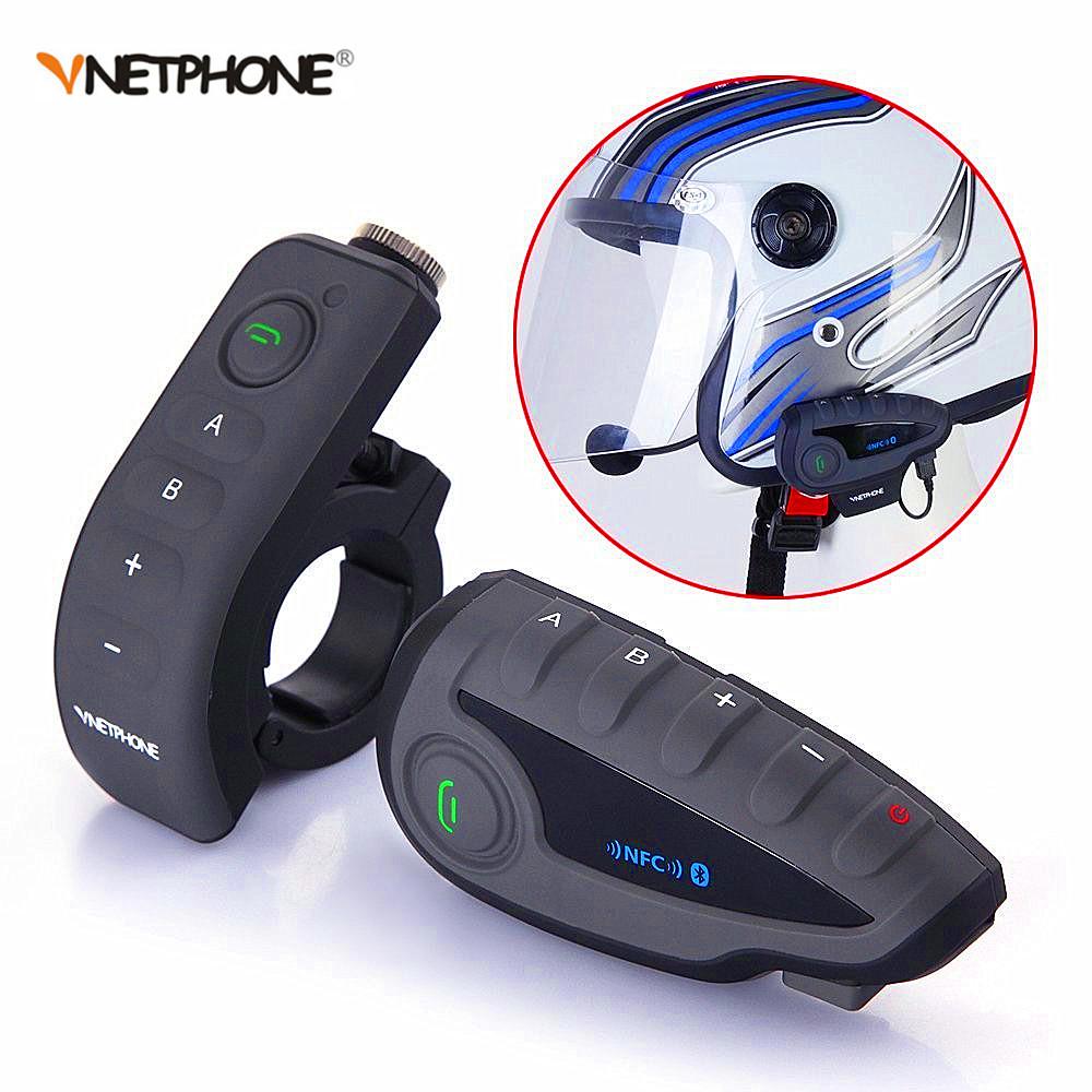 Vnetphone V8 NFC Motorcycle Helmet Headset Bluetooth Waterproof BT Interphone фото