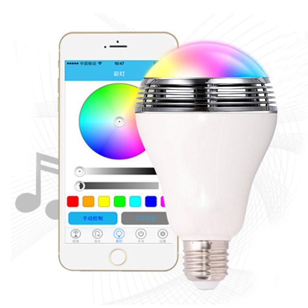 Smart Bluetooth Music Speaker LED Bulb фото