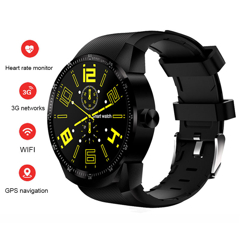 K98H 3G Smart Watch Phone Support GPS WiFi Heart Rate Monitor Wristwatch фото