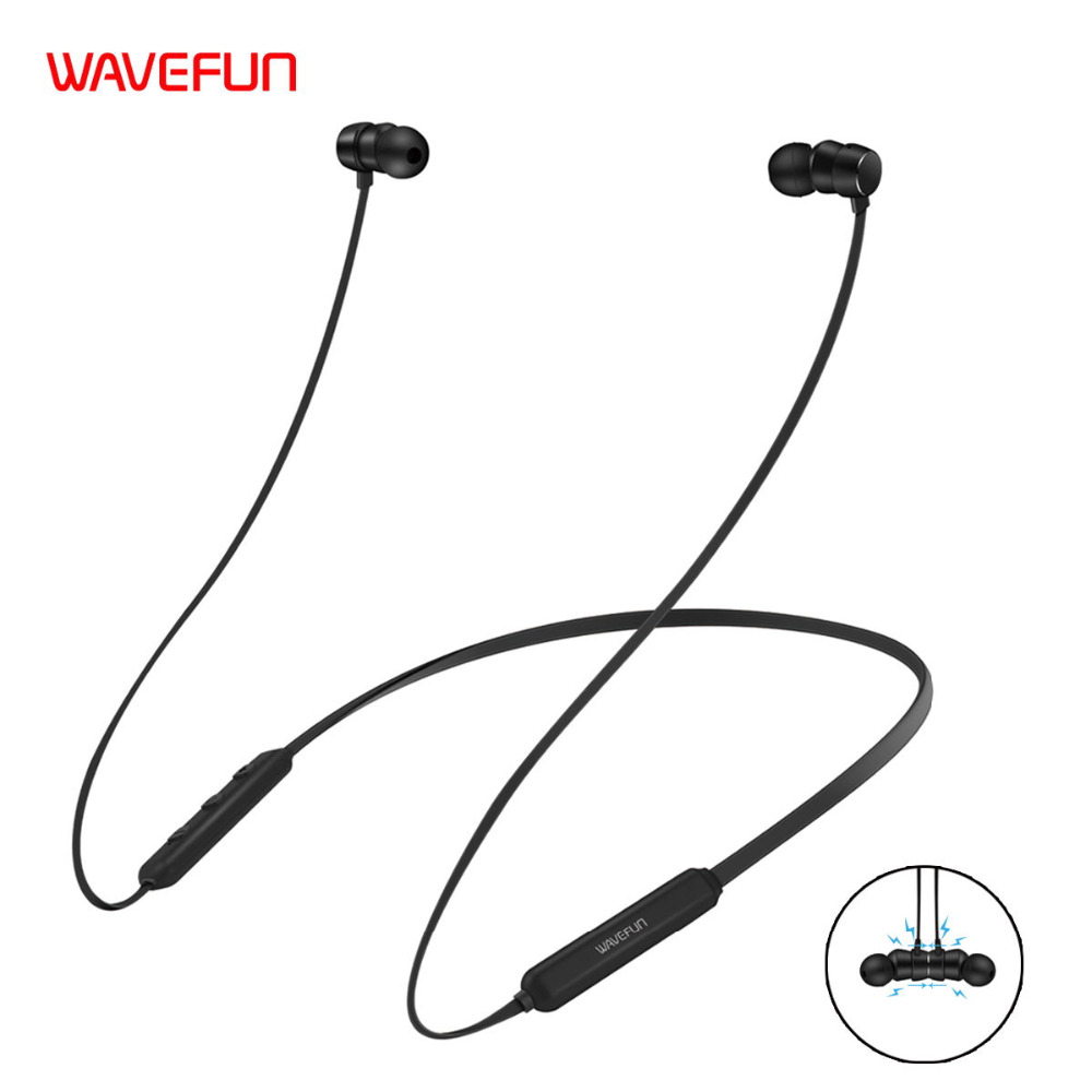 Wavefun Flex Wireless Bluetooth Earbud Sports Magnetic Stereo Headset фото