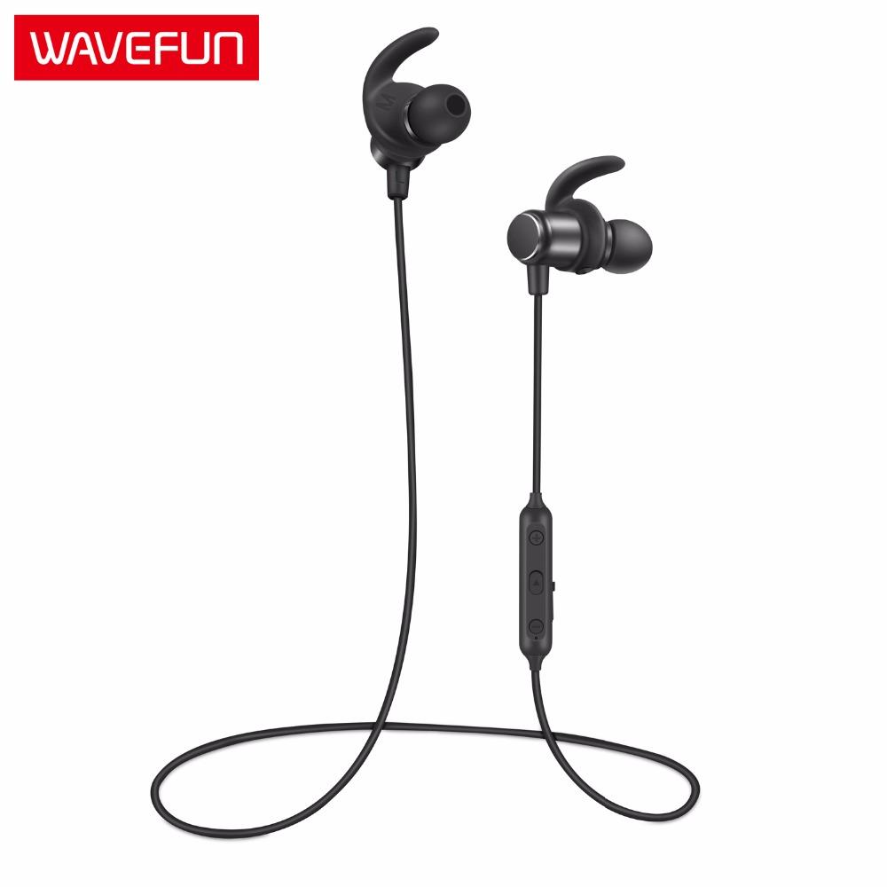 Wavefun Fit Wireless Bluetooth Earbud IPX5 Waterproof Bass Sports Headset with Mic фото