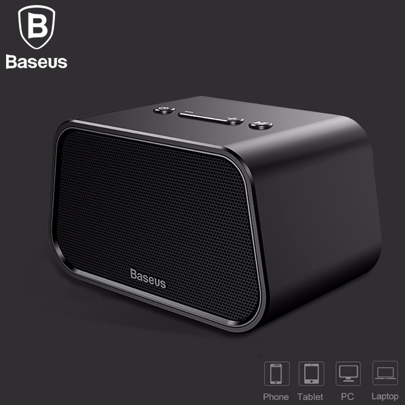 Baseus Encok E02 Trapezoid Bluetooth Speaker Support U Disk / TF Card /Aux Input фото
