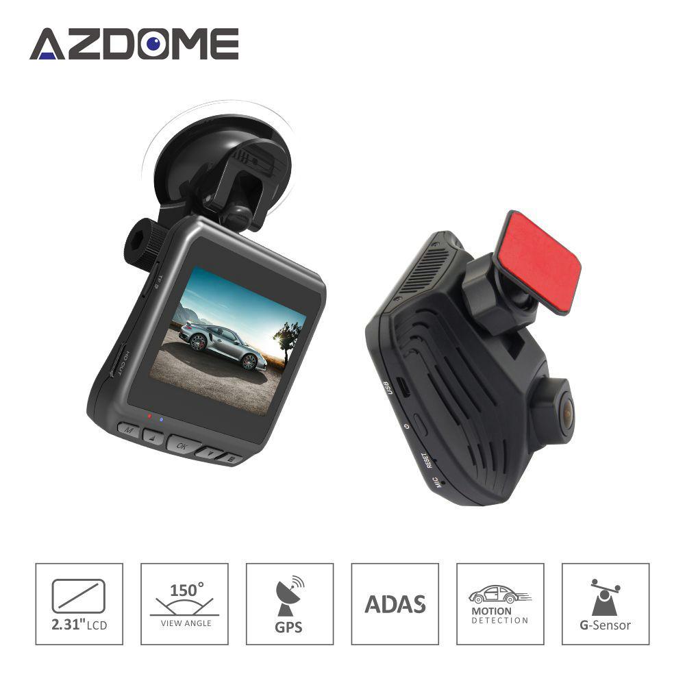 Azdome DAB211 Full HD Car DVR GPS Night Vision Dash Cam фото