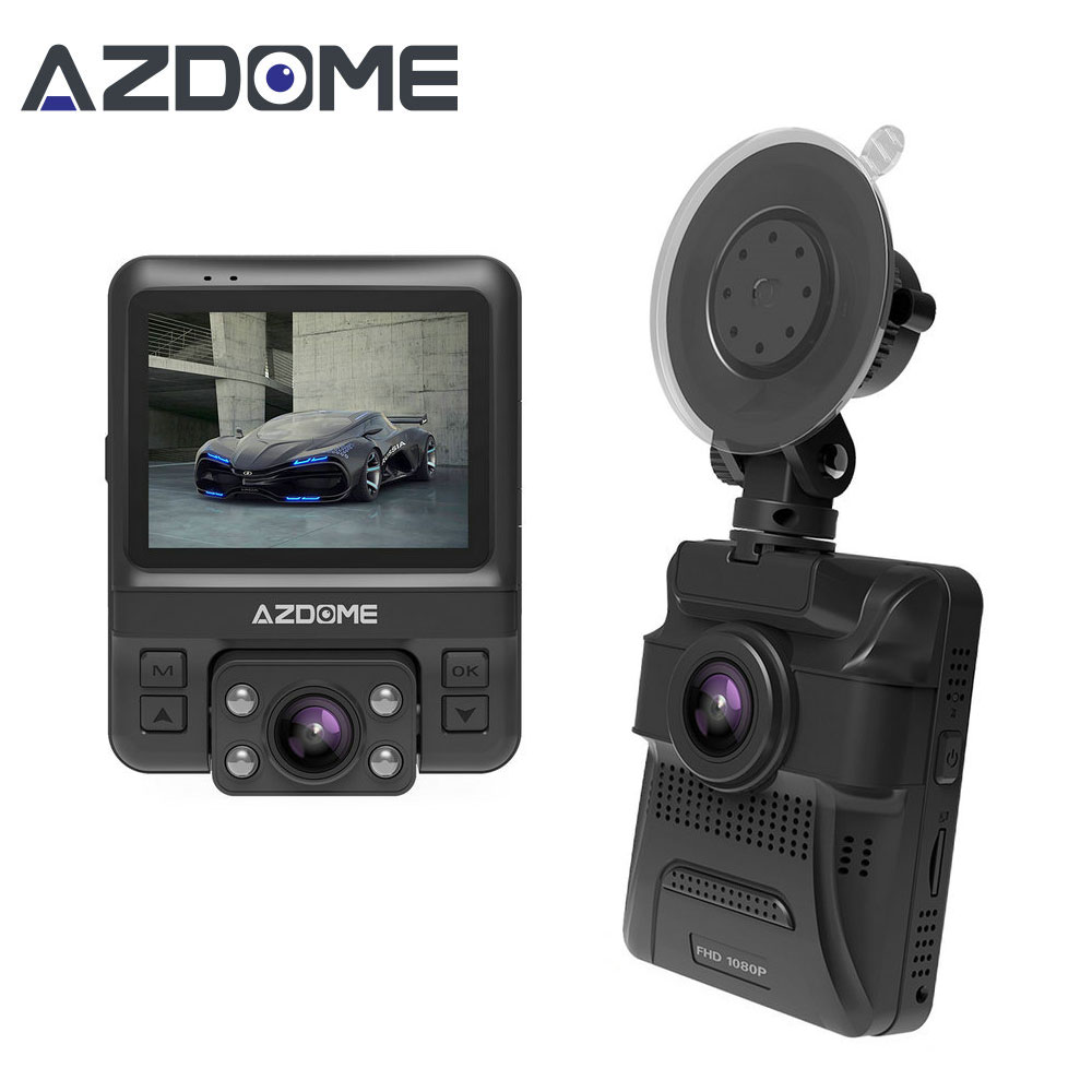 Azdome GS65H Mini Dual Lens Car DVR 1080P Full HD Night Vision Dash Cam фото