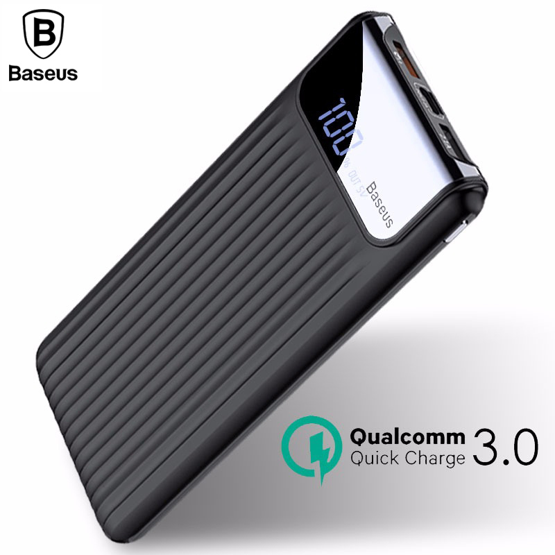 Baseus 10000mAh Thin Digital Dual-output Power Bank фото