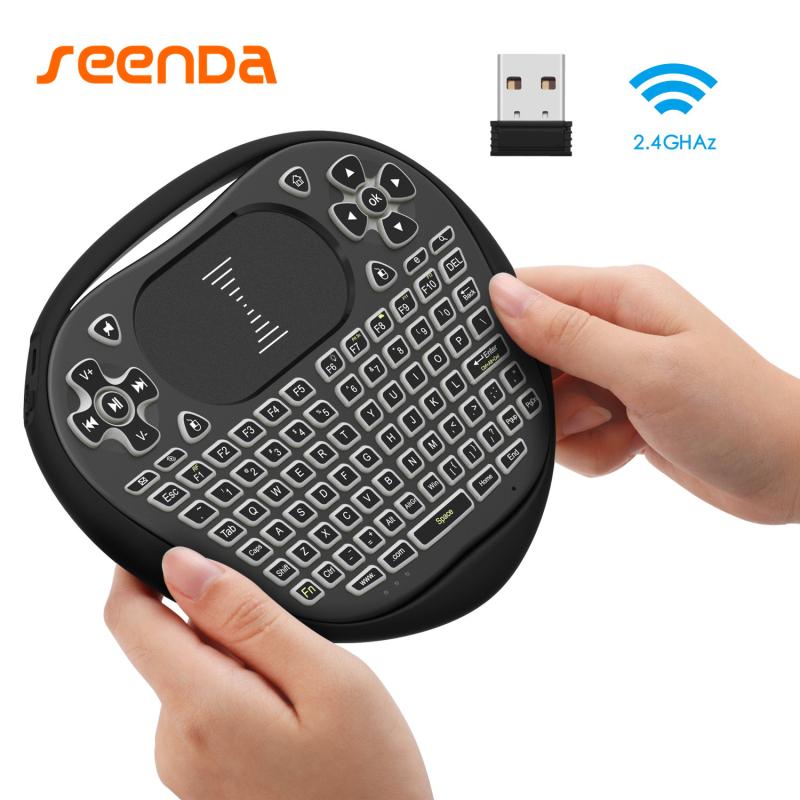 SeenDa 352 Smart Mini Wireless Keyboard 2.4G with Touchpad Mouse