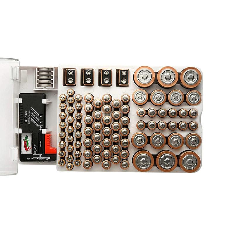 93 Grids Battery Capacity Tester Storage Box Transparent Measuring Organizer Case