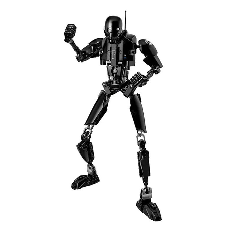 Creative Black Robot Building Block Toy