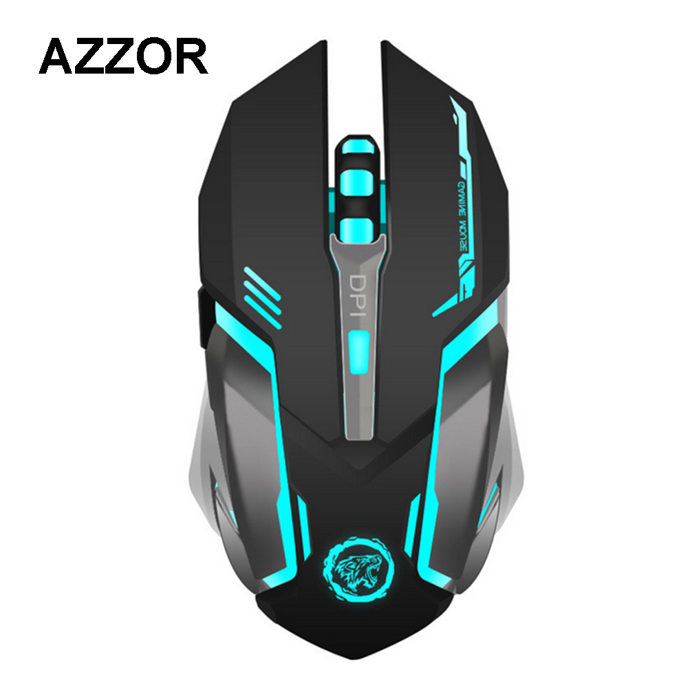 AZZOR 7-Color Wireless Backlight Gaming Mouse