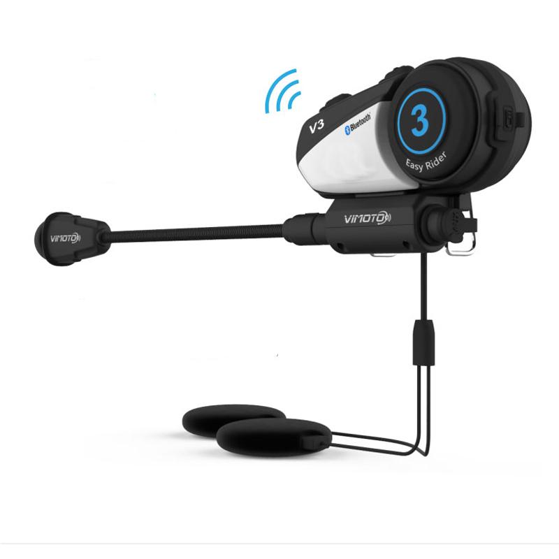 Vimoto V3 Bluetooth Radio Headset Multifunctional GPS 2 Way Motorcycle Helmet фото