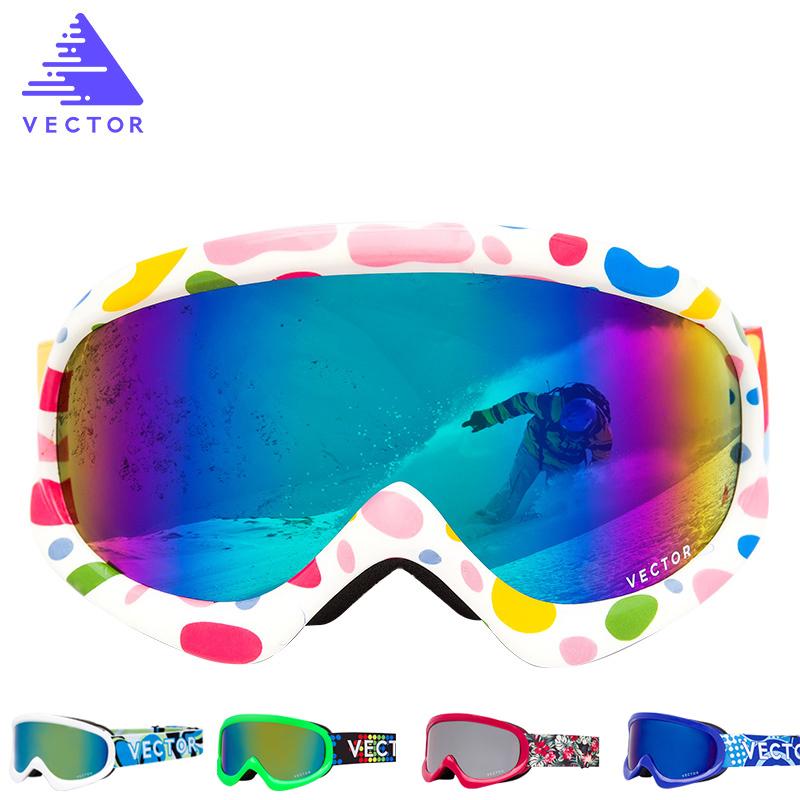 VECTOR Kids Ski Goggles UV400 Anti-fog Winter Girls Boys Eyewear фото