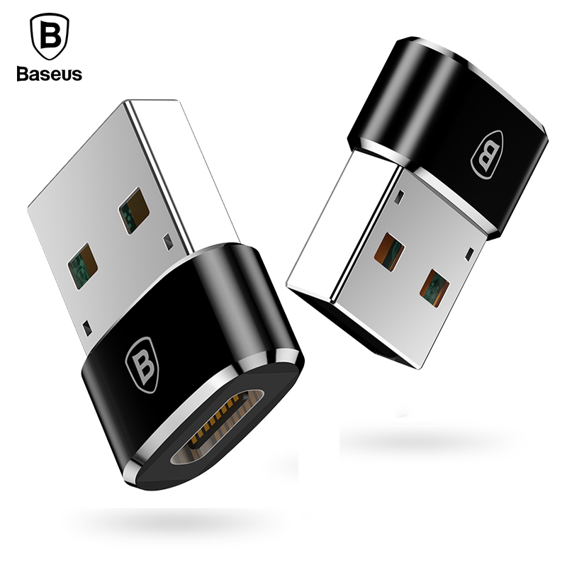 Baseus CAAOTG-01 Mini Type-C Female to USB Male Adapter Converter фото
