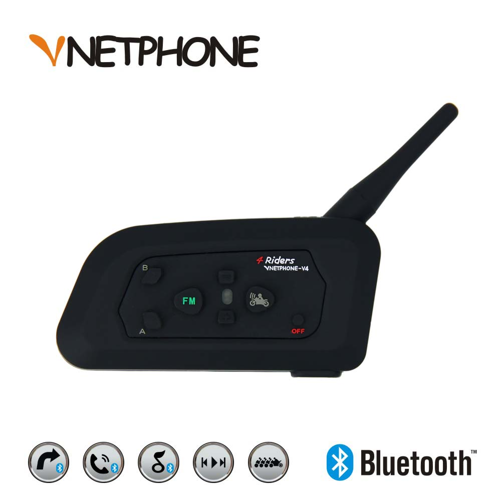 Vnetphone V4 Bluetooth BT Multi Motorcycle Intercom фото