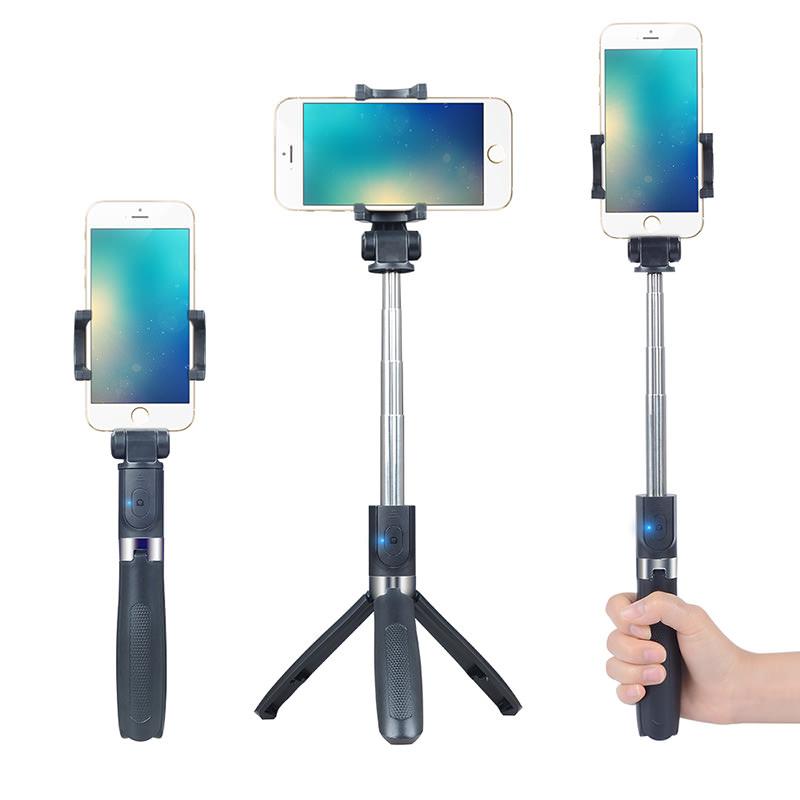 APEXEL 3 in 1 Wireless Bluetooth Selfie Stick Foldable Handheld Mini Tripod APL-D4 фото
