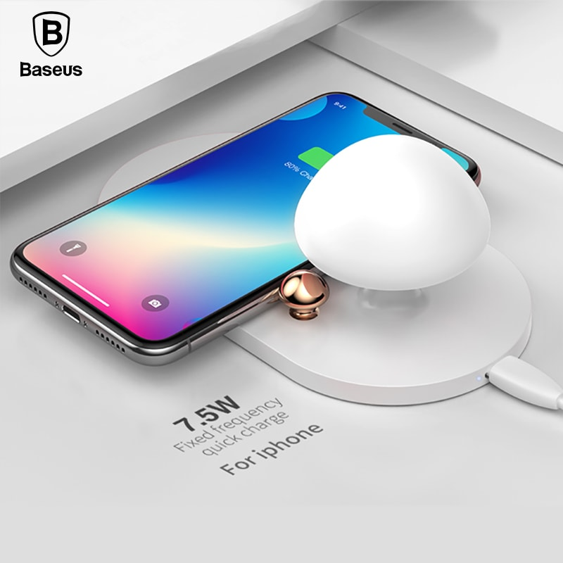 Baseus Mushroom QI Wireless Charger with Bedside Night Light фото