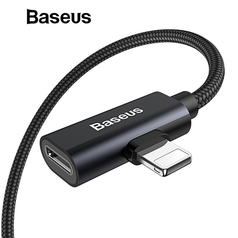 Baseus 2 In1 Audio USB Cable for iPhone XS XS MAX XR фото