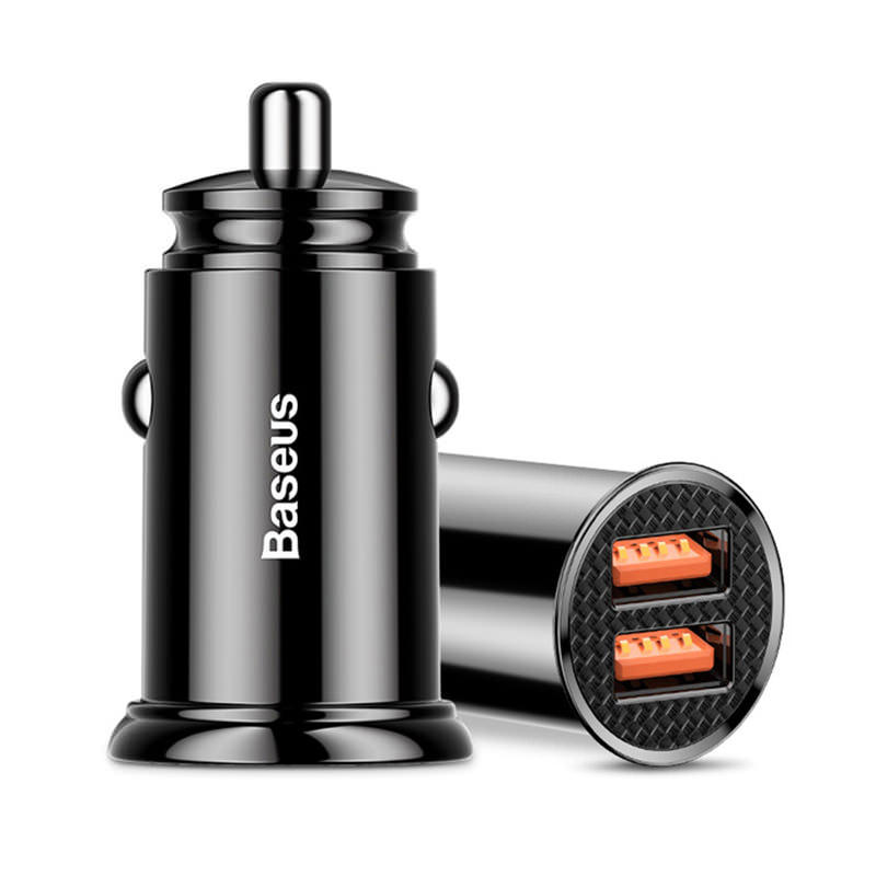 Baseus BS-C16Q1 30W QC3.0 Dual USB Car Charger фото