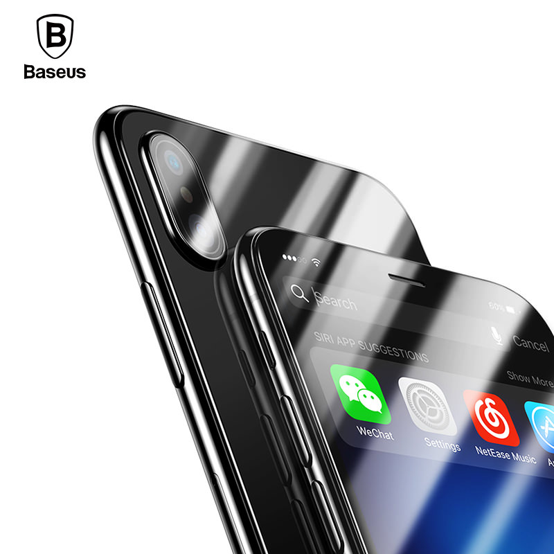 Baseus Front Glass + Back Tempered Glass Screen Protector for iPhone Xs Xs Max XR фото