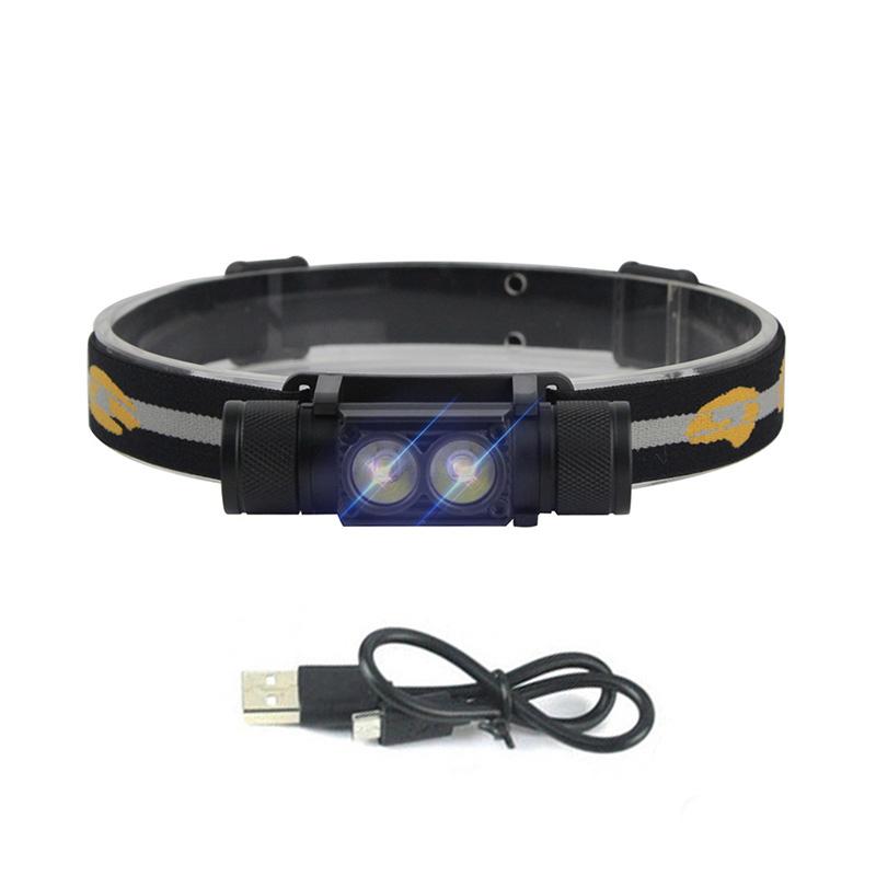 Boruit D25 Portable Double-head LED Headlamp 1900 Lumens фото