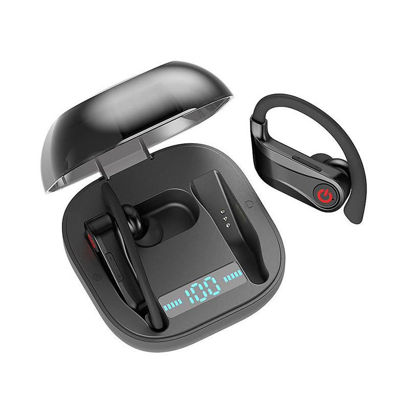 Q62 TWS Sports Bluetooth 5.0 Earphone Stereo Three Power Display With Mic фото