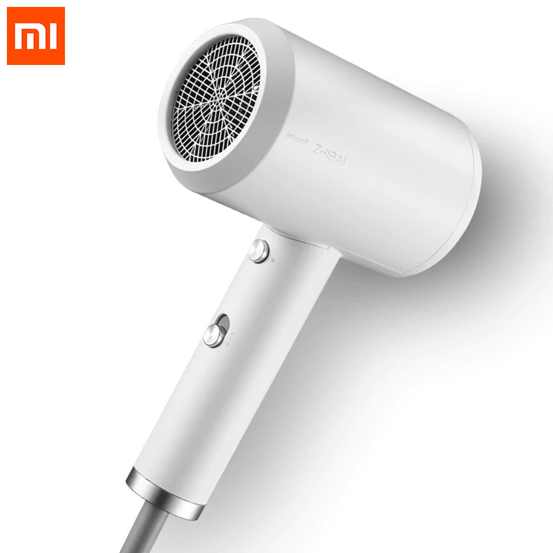 Xiaomi Mijia Zhibai Hair Dryer Mini Portable Anion HL3 1800W 2 Speed Temperature Blow Dryer