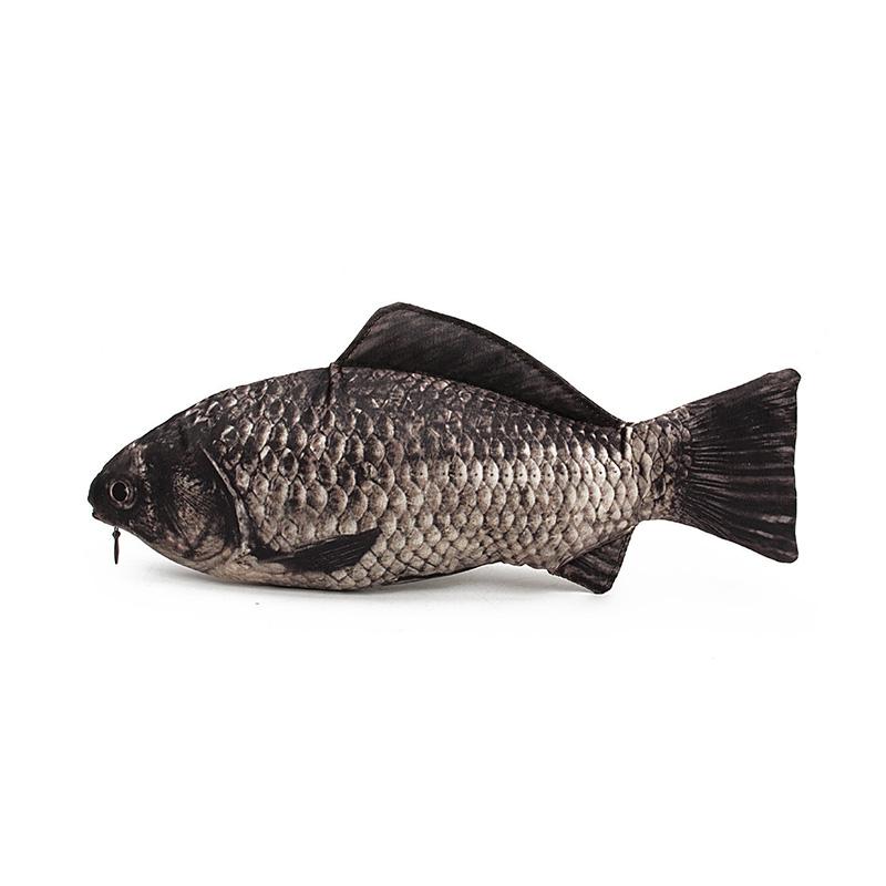 Carp Fish Shaped Zipper Pencil Case Bag фото