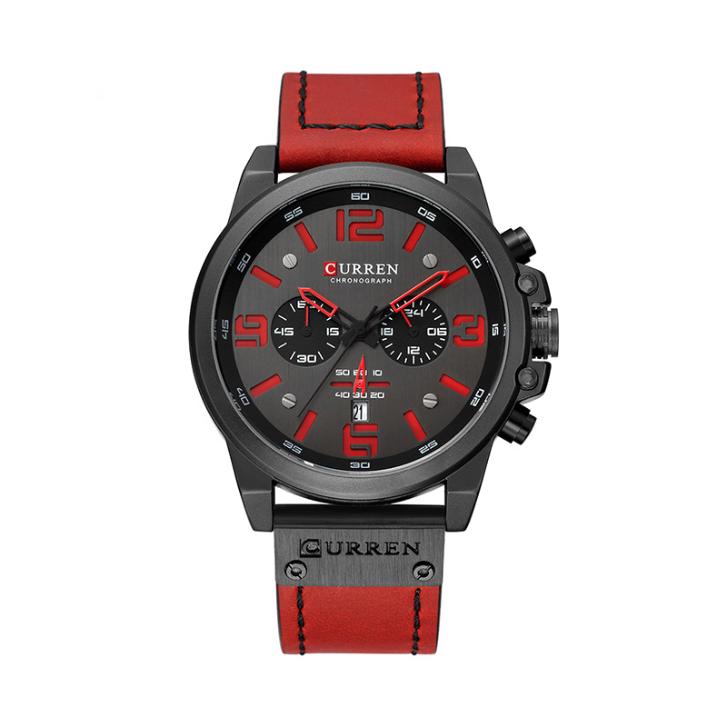 Curren 8314 Male Quartz Watch Six Pointers Date Display Wristwatch for Men фото