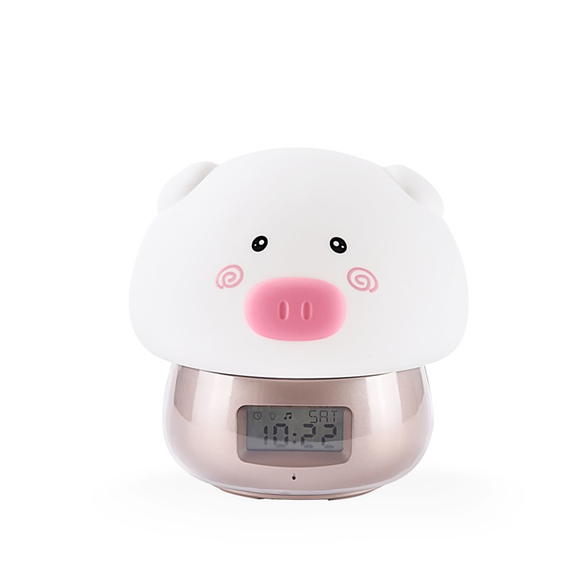 Cute Animal Alarm Clock with Light LJA-004 фото