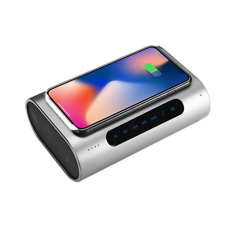 3 In 1 Portable Wireless Charger Bluetooth Speaker Power Bank Gearvita