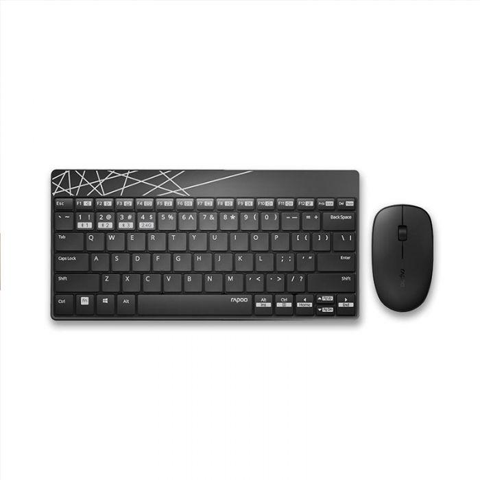 Rapoo 8000m Wireless Keyboard Mouse Combo Set Gearvita