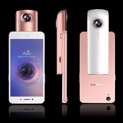 JZZH Hi720 Dual Wide-angle Fish-eye Lens for IPhone and Android Phone