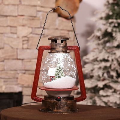 christmas snow lamp