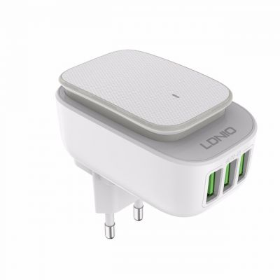 LDNIO A3305 Fast Charger 3 USB Port Adapter with LED Light