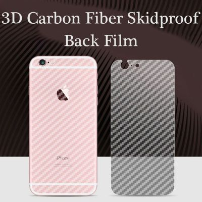 3D Transparent Grid Carbon Fiber Back Screen Protective Film for iPhone