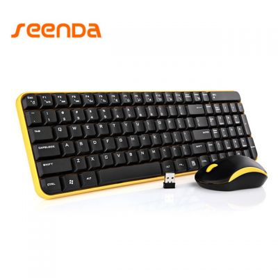 Seenda Ultra-slim 2.4GHz USB Wireless Silent Keyboard and Mouse Combo