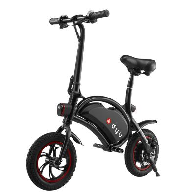 F - wheel DYU D1 Smart Folding Electric Bike with 12 Inch Wheels