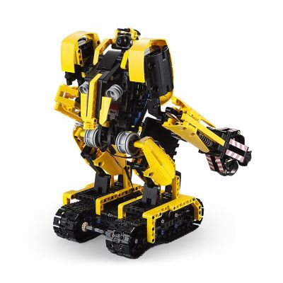 CaDA C51026 Robot Excavator 2-in-1 Intelligent RC Building Block Toy 930pcs