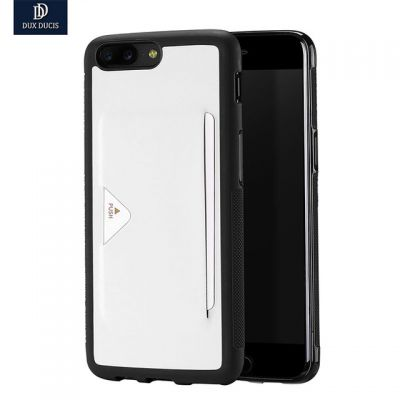 DUX DUCIS Skin TPU Back Cover Pocard Series PU Leather Card Slot for OnePlus 5
