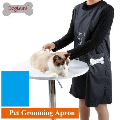 DogLemi WP1022 Waterproof Apron with Pockets for Pet Grooming